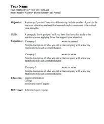 simple resume format in word file download basic resume form simple resume format a simple resume format word