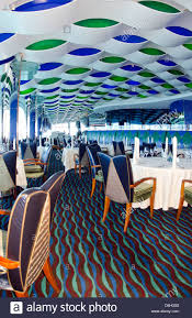 Interior Of Burj Al Arab Interior Of Top Floor Restaurant At Worlds Only 7 Star Hotel The