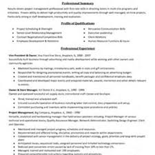 Pmo Sample Resume by Project Management Skills Resume Berathen Com