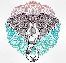 tribal vector elephant with tribal ornaments stock vector