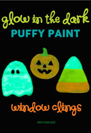 glow in the dark window clings diy glow in the dark halloween window clings made with puffy paint fun and easy