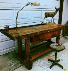 Old Woodworking Bench For Sale by Vintage Wood Workers Work Bench Desk Kitchen Island