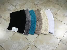 microfibre non slip small curved shower mat