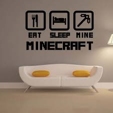 online shop 4044 cheap home decoration minecraft wall sticker