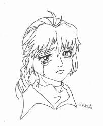 8 pics of sad anime girls coloring pages anime line art