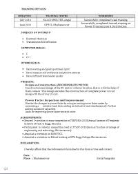 Resume Format For Freshers Mechanical Engineers Pdf Resume Format For Freshers Diploma