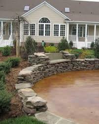 Backyard Concrete Patio Ideas by Acid Stained Patio Google Search For The Home Pinterest