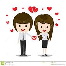 imagenes de amor con muñecos animados pares lindos en el amor que lleva a cabo las manos personajes de