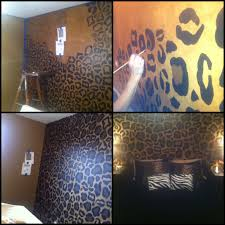 cheetah wall for bedroom my best friend posted this home