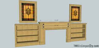 Mission Bookcase Plans Craftsman Style Mantel U0026 Bookcases Thisiscarpentry