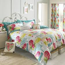 Bedroom Drapery Ideas Bedroom Floral Print Faux Silk Drapery Fabric With Valance And