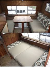 how to make easy vintage trailer dinette cushions step by step