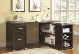 L Shaped Desk With Drawers Coaster Yvette L Shape Desk Coaster Fine Furniture