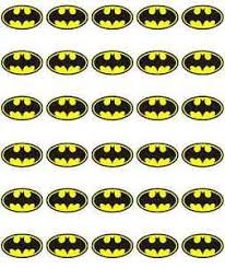 Where To Buy Edible Paper Batman Logo Cupcake Toppers Birthdays Edible Wafer Paper Buy 2 Get