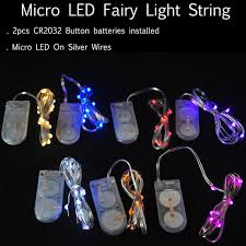 small led lights for decoration 10pcs lot cr2032 button battery 2m 20led micro tiny led string