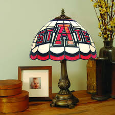 arkansas state red wolves tiffany stained glass table lamp sports