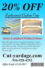 Sofa Cushion Foam Prices Upholstery Foam Chair Foam High Resiliency Foam Sacramento Ca