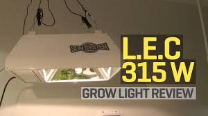 lec 630 grow light lec 315w grow light review youtube