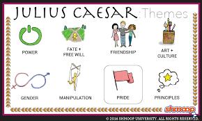 julius caesar theme of pride