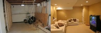 Basement Renovations Befor And After Basement Remodeling Basement Remodeling