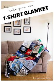 how to make your own t shirt blanket diy teaspoon of nose home