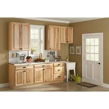 Home Depot Kitchen Hardware For Cabinets - hickory cabinets with light countertop hickory kitchen