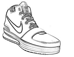 nike shoes coloring page boys pages of kidscoloringpage org