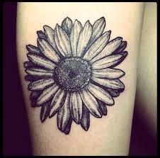 black daisy flower tattoo design for shoulder daisy tattoo