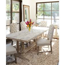 OVERSTOCK TABLE ONLY Kosas Home Winfrey Antique White - Pine dining room sets