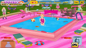 Big Barbie Dollhouse Tour Youtube by Barbie Pool Party Cleaning Youtube Idolza