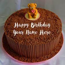 teddy chocolate birthday cake wishes pics