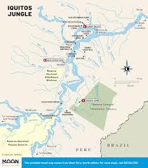Amazon Rainforest Map Printable Travel Maps Of Peru Moon Travel Guides