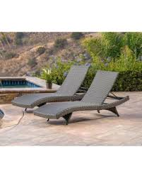 fall into this deal 25 off abbyson soleil grey patio lounger