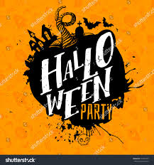 happy halloween lettering logo greeting card stock vector
