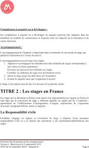 bureau des stages 4 charte des stages aussi ces textes ont imposé de nouvelles