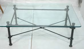 coffee table wrought iron glass top coffee table wrought iron