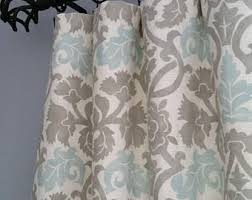 Gray And Turquoise Curtains Blue Gray Curtain Etsy