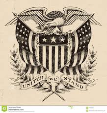 Vintage Flag Art Drawn American Flag Vintage Pencil And In Color Drawn American