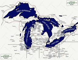 Map Of Michigan Cities by Map Of Michigan With Great Lakes Michigan Map
