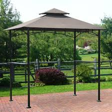 Mainstays Grill Gazebo by Light Brown Wooden Patio Swing With A Shape Legs Plus Seat Also