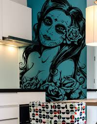 mexican day of the dead sexy girl vinyl wall decal sticker 6021