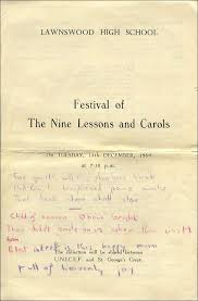 1959 carol service programme