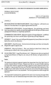 Queen S Bench Division Access Bank Plc V Akingbola Commercial Law Reports Nigeria