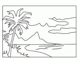 free coloring book beach scene coloring design free