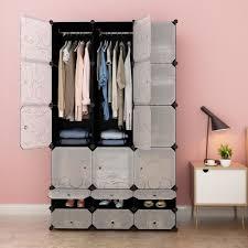 chambre modulable langria 18 cube penderie armoire de chambre modulable plastique