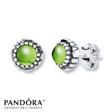 peridot earrings pandora earrings peridot sterling silver pandora designers