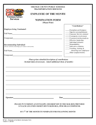 sample nomination letter for employee of the year cover letter