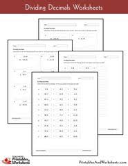 5th grade dividing decimals worksheets printables u0026 worksheets