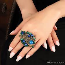 women big rings images 2018 new vintage wedding gift big ring for women blue female big jpg