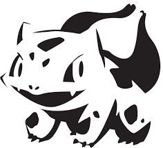 cartoon pumpkin stencil bulbasaur free pokemon pumpkin templates popsugar tech photo 1